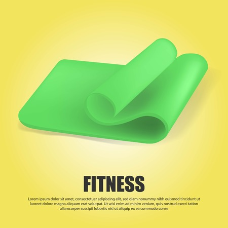 Art design fitness and health template. Abstract concept graphic pilates exercise equipment element