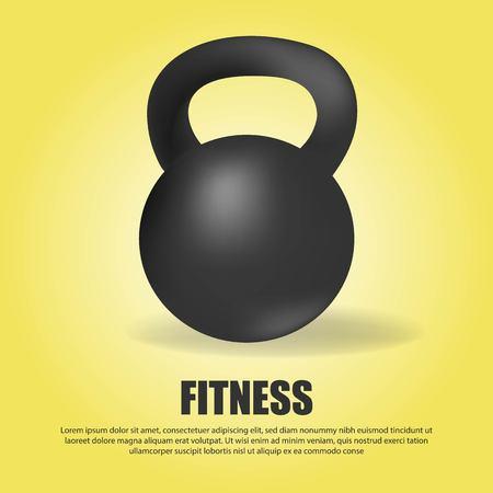 Black kettlebell weight gym sport