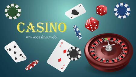 Casino vegas fortune roulette wheel design flyer. Illustration