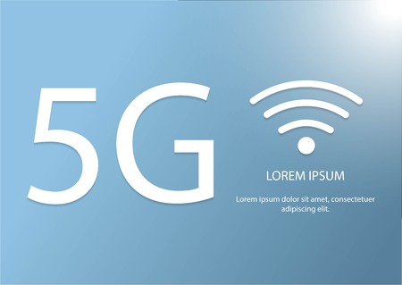 new 5th generation mobile network logotype. vector 5G icon. high speed connection wireless systems symbol. telecommunications standard of faster Internet connection