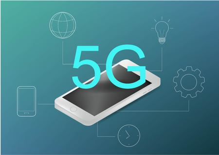 5g technology concept. Can use for web banner, infographics. Flat isometric vector illustration. Illustration