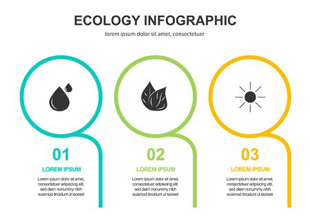 Abstract ecology concept background .Vector infographic  イラスト・ベクター素材