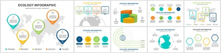 ecology info graphics collection - sustainable concept