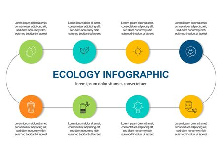Abstract ecology concept background .Vector infographic 写真素材