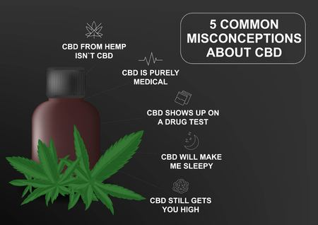Visual drawing of benefits effective or properties the skin and body human endocannabinoid system for marijuana CBD