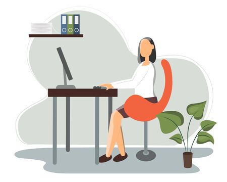 Business concept office work. Modern vector illustration in flat style.