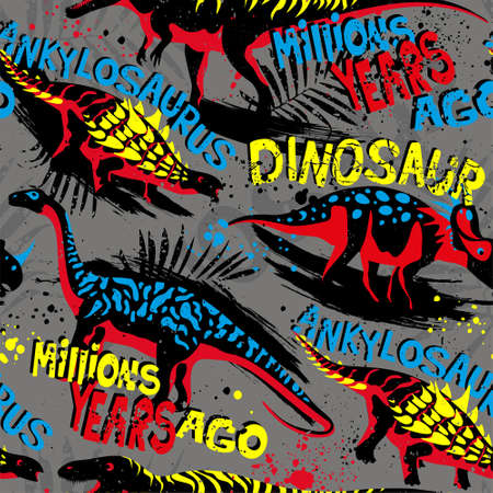 Seamless pattern with dino. For for kids fabric, textile