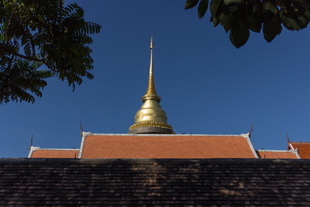 buddhism: Buddhism stupa with bluesky