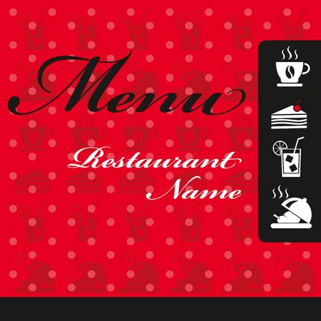 restaurant dining: Restaurant Menu Card Design Illustration
