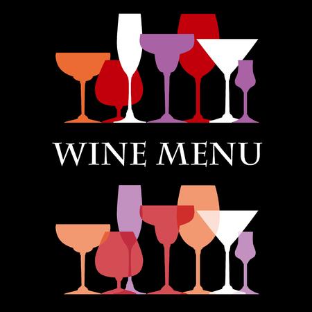 wine menu: Wine menu design template - vector illustration