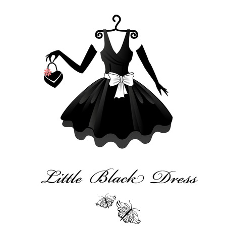 vintage dress: Little Black Dresses Illustration