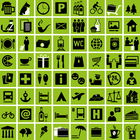 tourist information: Set of tourist information icons. Vector illustration Illustration