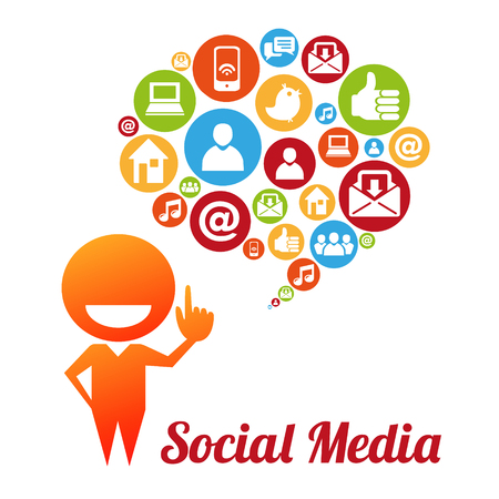 Social media and networking concept Illustration