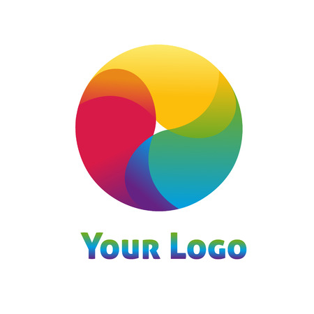 looped shape: Business Abstract Circle icon. Corporate, Media, Technology styles vector logo design template.
