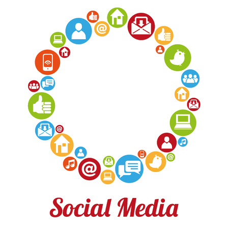 Social media and networking concept Ilustrace