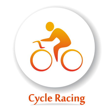 cycle race: Vector icon with Bicycle race silhouette. Cycle race. Cycle racing Illustration