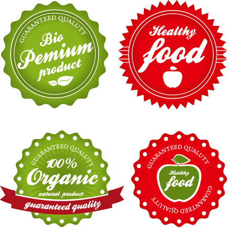 dairy product: Organic , Bio and Healthy Labels Collection. Illustration
