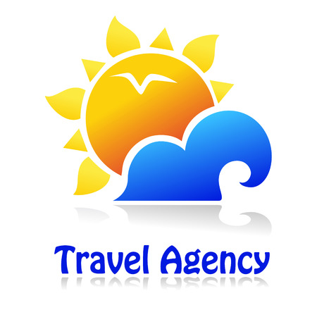 Travel icon for tourist industry: hotel, travel agency, outdoor company. Illustration