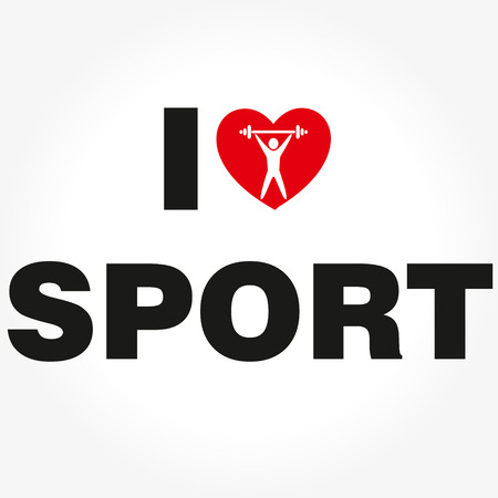 eps icon: I Love Sport Vector 10 EPS icon Illustration