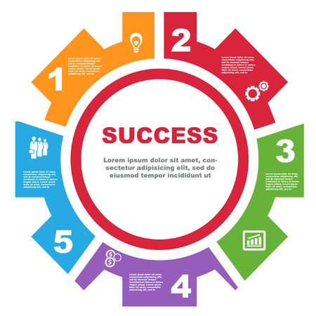 Vector illustration of business and success concept.