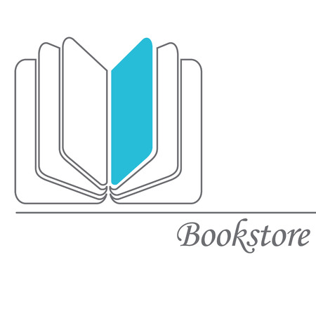 Book sign. Book symbol. Bookstore. Vector illustration Illustration