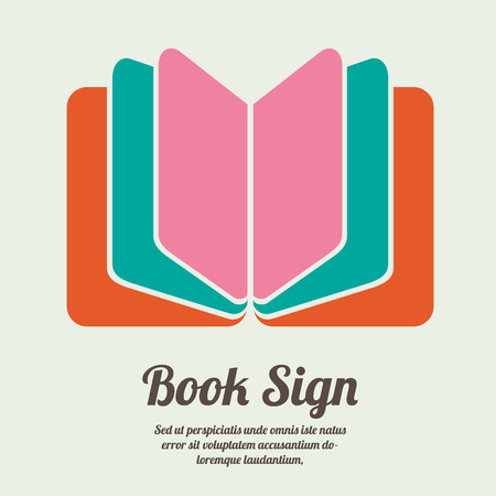 reads: Book sign. Book symbol. Vector illustration Illustration