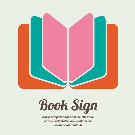 libros: Signo libro. S�mbolo libro. Ilustraci�n vectorial