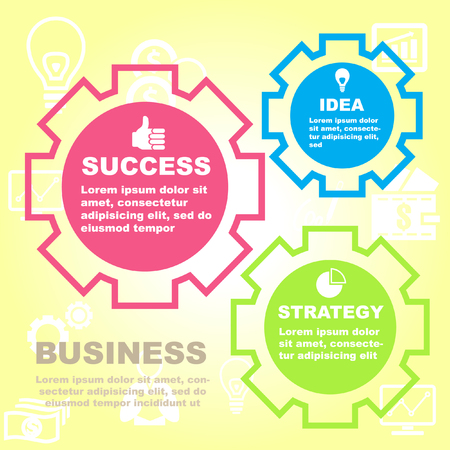 success concept: Vector illustration of business and success concept.