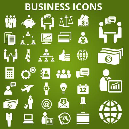 ビジネスのアイコンのセットです。ベクトル図  イラスト・ベクター素材