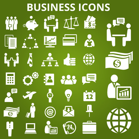 business icon: Set of business icons. Vector illustration