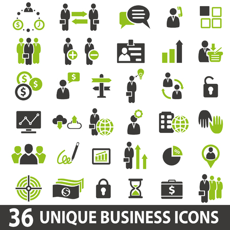 contact business: Set of 36 business icons.