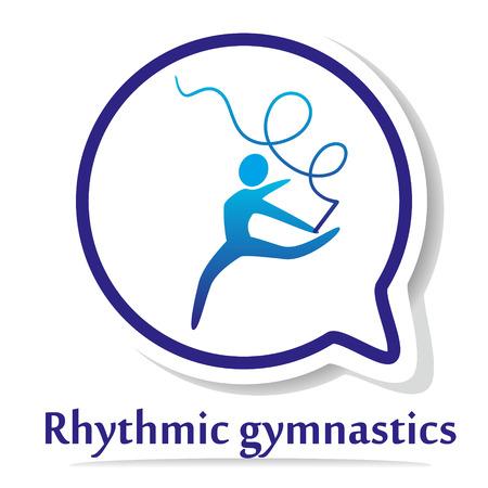gimnasia ritmica: Icono del vector con la gimnasia r�tmica silueta. Vectores