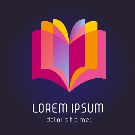 giáo dục: Dấu hiệu sách. Biểu tượng cuốn sách. Minh hoạ vector