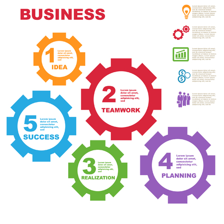 success business: Vector illustration of business and success concept.