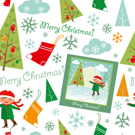ice slide: Merry Christmas pattern.