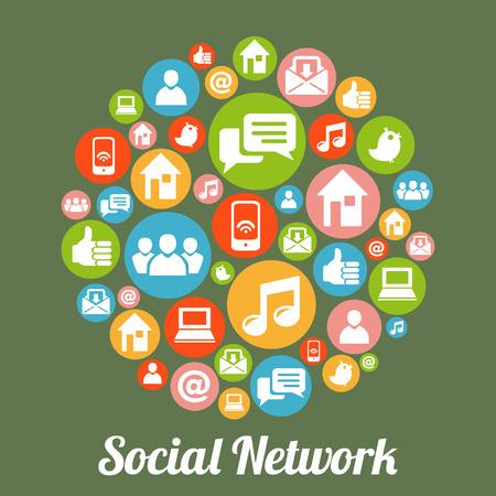 ソーシャル メディアとネットワークの概念。