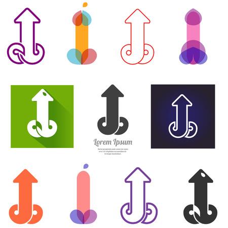 sex: Set van abstrackt iconen.