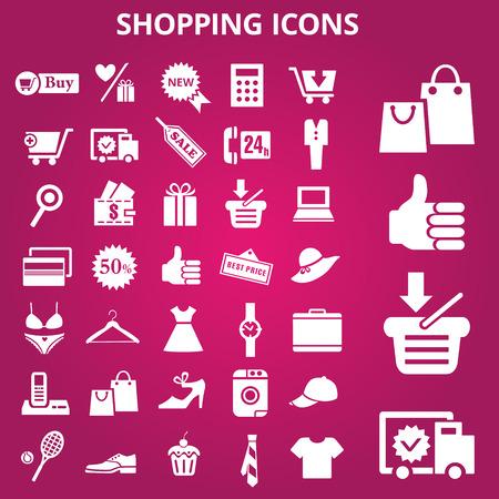shopping icons: Set of shopping icons. Vector illustration Illustration