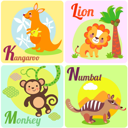 Cute Animal Alphabet. English Alphabet Poster. Nursery Wall Art ...