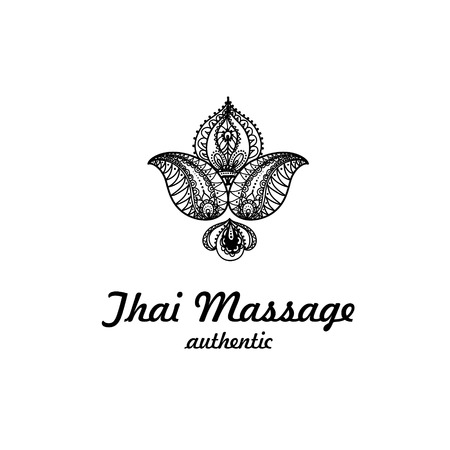 Thai massage icon. Thai massage illustration. Thai massage vector. Thai massage image. Thai massage concept