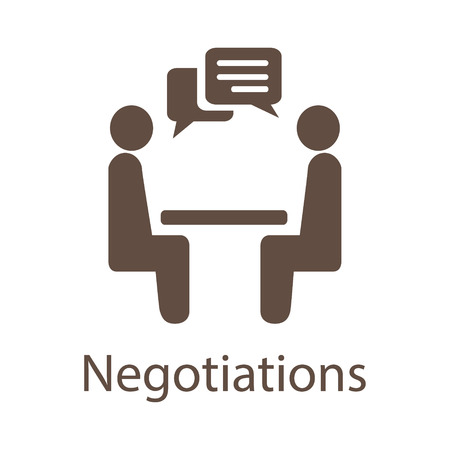 交渉のベクター アイコン。