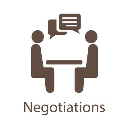 negociacion: La negociación del icono del vector.