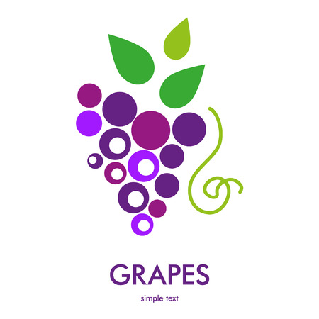 grapes: Grapes icon. Illustration