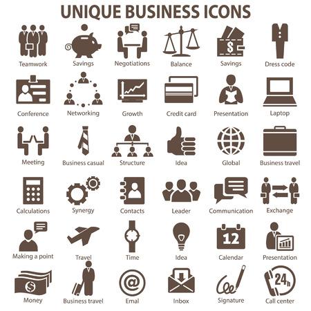 36 のユニークなビジネスのアイコンのセットです。