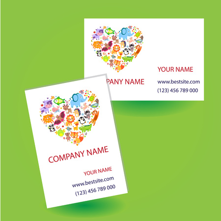 contact information: Business card with. Business card concept. Business card vector. Business card idea Illustration