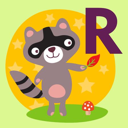 animal alphabet: Cute animal alphabet for ABC book.