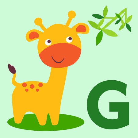 camelopard: Cute animal alphabet for ABC book.