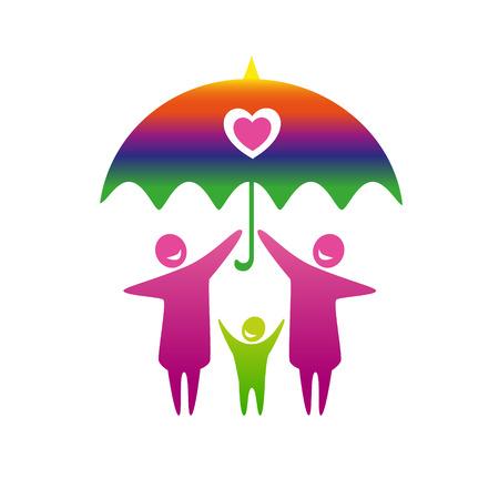 gay girl: Gay family vector icon. Illustration