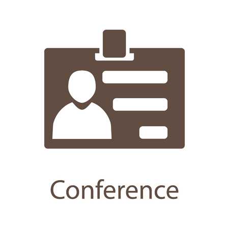 Business communication and conference icon. Conference icon illustration. Conference icon JPG. Conference icon vector