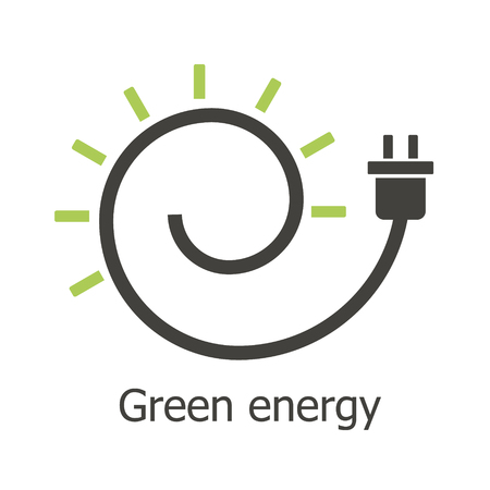 Green energy  icon Ilustrace